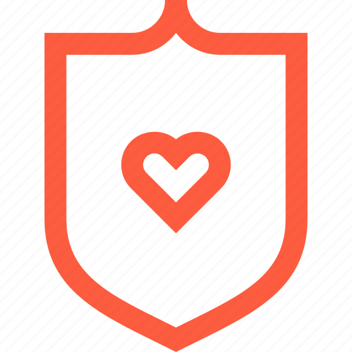 cardiography, heart, insurance, life, medical, protection, shield icon