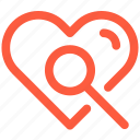 detail, health, heart, information, medical, research, search icon