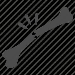 accident, bone, break, broken, danger, patient, surgery icon