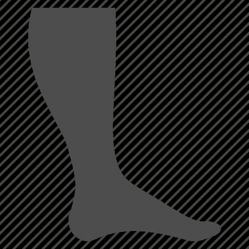 foot, heel, leg, ream, shank, shin, track icon