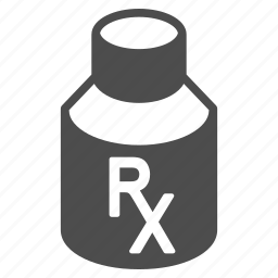 bottle, drug container, medical, medicine, mixture, pharmacy, vial icon