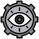 eye, medical, random, spiral, vision icon