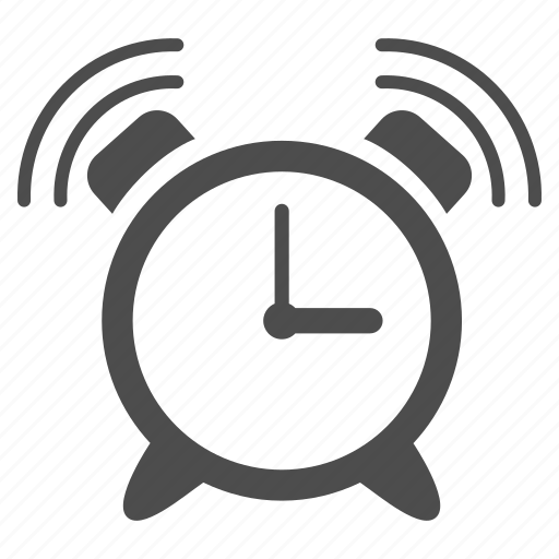 alarm clock, alert, bell ring, buzzer, emergency, schedule, signal icon