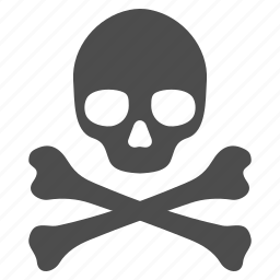 crossbones, danger, death, head, skeleton, skull, toxic icon