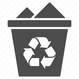 basket, clear, delete, dustbin, full recycle bin, recycle, trash icon