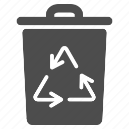 basket, container, environmental, garbage, recycle, recycling bin, trash can icon