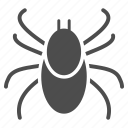 bug, danger, insect, nature, safety, security, tick icon