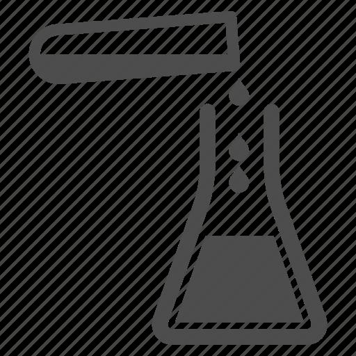 chemistry, flask, fluid, laboratory, liquid, liquid transfusion, water icon