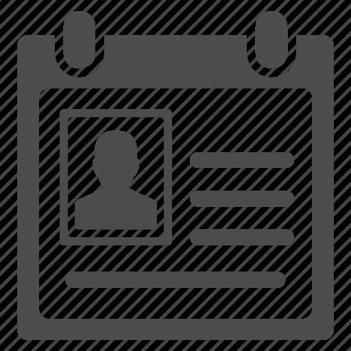 account, badge, card, cardfile, certification, person, profile icon
