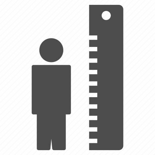 growing, growth, height, high, measure, measurement, size icon