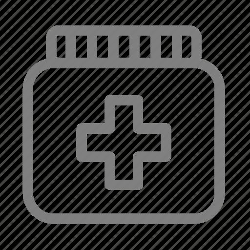 bottle, drug, medical, medicine, pharmaceutical, pharmacy, pill icon