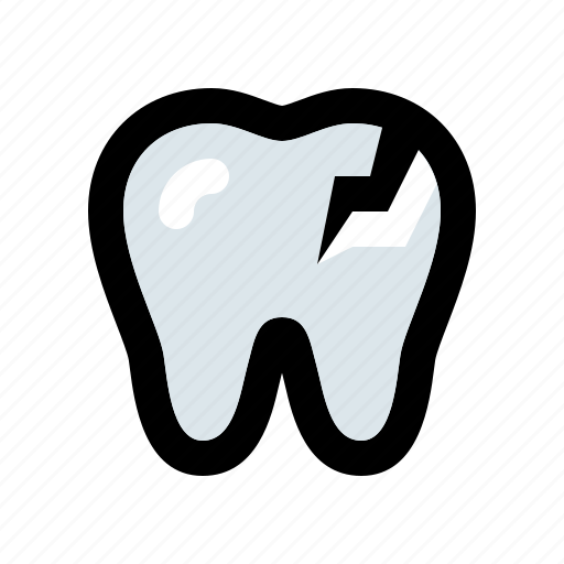 aching, bad, choppy, cracked, flawed, tooth icon