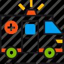 ambulance, car, emergency, healthcare, hospital, treatment, urgent icon