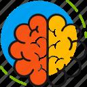 brain, head, mental, mind, neurology, psychology, thinking icon