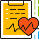 cardiogram, document, health, healthcare, medical, rate, report icon