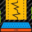 cardiogram, computer, data, diagnostic, health, laptop, pulse icon