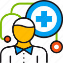 doctor, healthcare, hospital, medical, physician, stethoscope, treatment icon