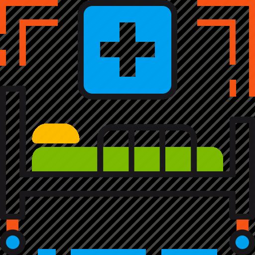 bed, clinic, healthcare, hospital, medicine, treatment icon