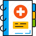 book, data, healthcare, information, medical, profile, record icon