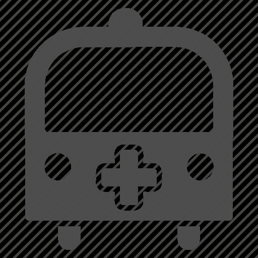 ambulance, bus, emergency, transport, transportation, van, vehicle icon