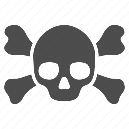 crossbones, danger, dead, death, evil, skull, toxic icon
