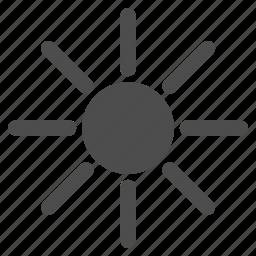 brightness, light, summer, sun, sun rays, sunny, sunshine icon