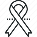 aids, awareness, cancer, hiv, ribbon icon