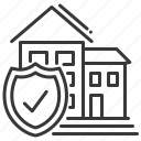 home insurance, house, safe, shield icon
