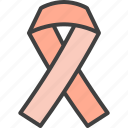 oncology, hiv, ribbon, cancer icon
