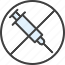 allergy, injection, intolerance, syringe, vaccine icon