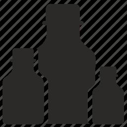 bottles, medicine, treatment icon