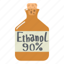 ethanol, container, alcohol, medical, glass, health, bottle