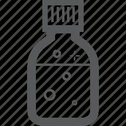 bottle, bubble icon