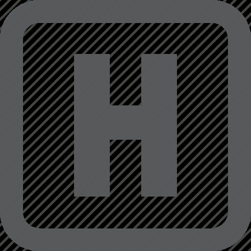 hospital, medicine, sign icon