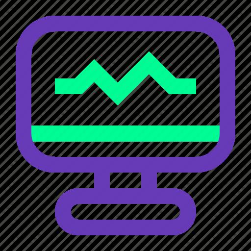 electro, graph, health, medical, radio, ui, ux icon