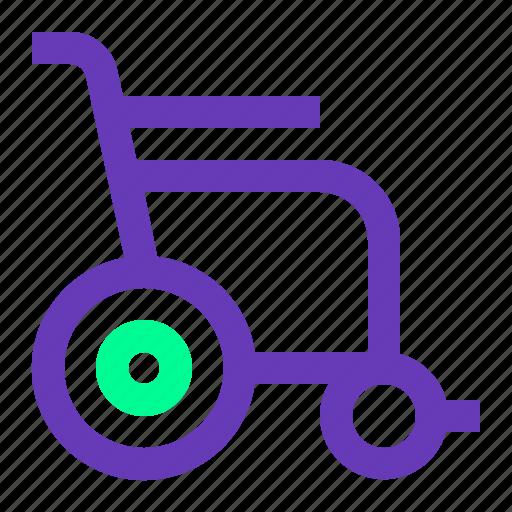 chair, health, medical, ui, ux, web, wheel icon