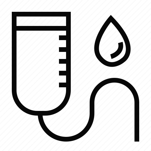 Ill, sick, bag, blood, saline icon - Download on Iconfinder