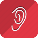 anatomy, bodypart, ear, healthcare, human, medical, medicine icon