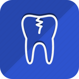 bodypart, damage tooth, healthcare, human, medical, medicine, tooth icon