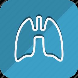 anatomy, bodypart, healthcare, human, lungh, medical, medicine icon