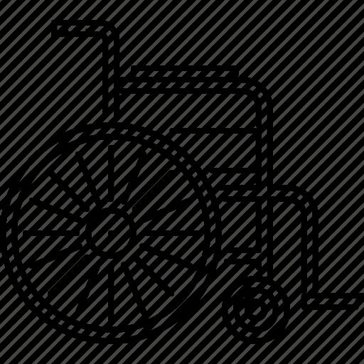 disabled, disease, hospital, medicine, treatment, wheelchair icon
