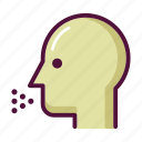 cold, coughing, head, infection, influenza, patient, sneezing icon