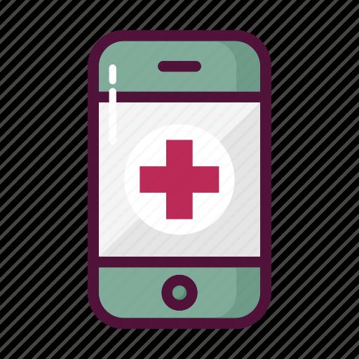 ambulance, emergency call, healthcare, hospital, mobile, phone, telephone icon