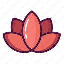 beauty, blossom, flower, lily, lotus, meditation, yoga icon
