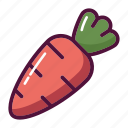 carrot, food, healthy, rabbit, root, vegetable, vegetables icon