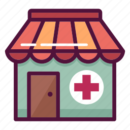 clinic, drug store, health, healthcare, hospital, medical, pharmacy icon