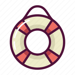 health, insurance, lifebuoy, rescue, safety, ship, swimming icon