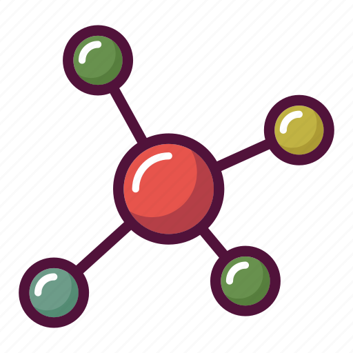 atom, chemistry, experiment, molecule, research, science, virus icon