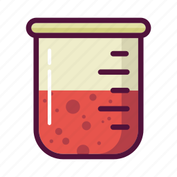 experiment, flask, glass, lab, laboratory, measuring beaker, test-tube icon