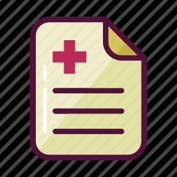 bill, document, healthcare, history, medical, medicine, prescription icon